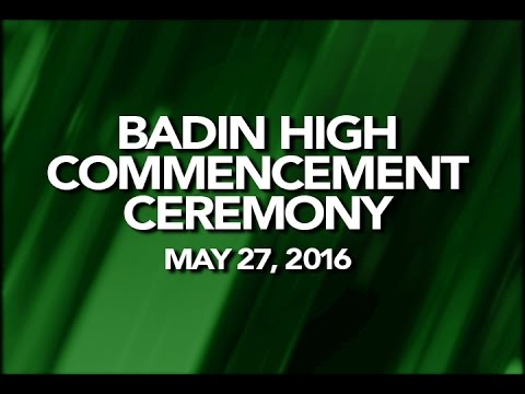 2016 Badin High School Commencement