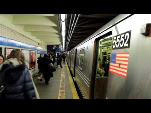 IND Subway: Brooklyn Bound R46 (R) Train (via 6th Ave) at Grand St.