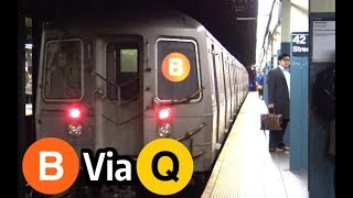 ⁴ᴷ B Trains Rerouted via the Q Line