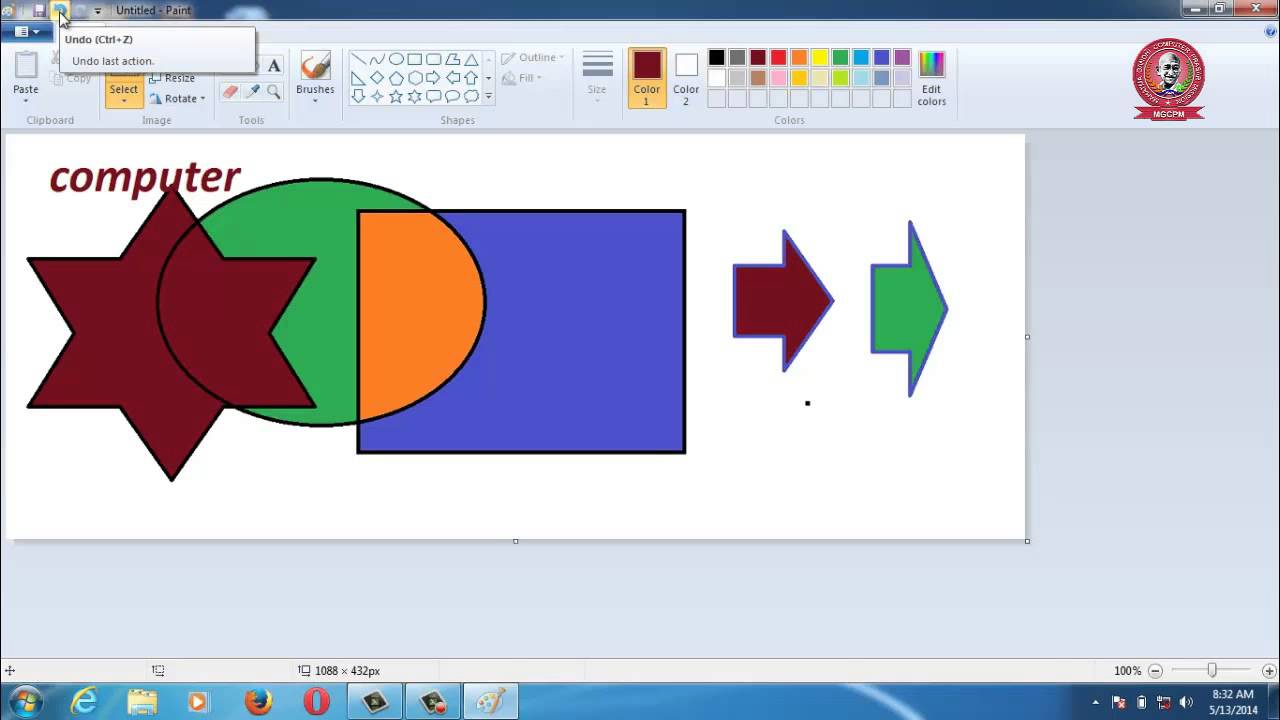 ms paint video tutorial 2015 in hindi part-1 - YouTube