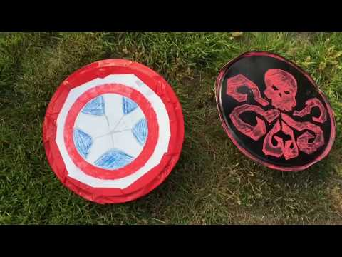 T And Si Makes: DIY CAPTIAN AMERICA AND HYDRA SHIELDS *diy and testing*