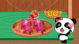 Fun farm game - Baby and little Panda learn how to raise fish, make canned fish dishes
