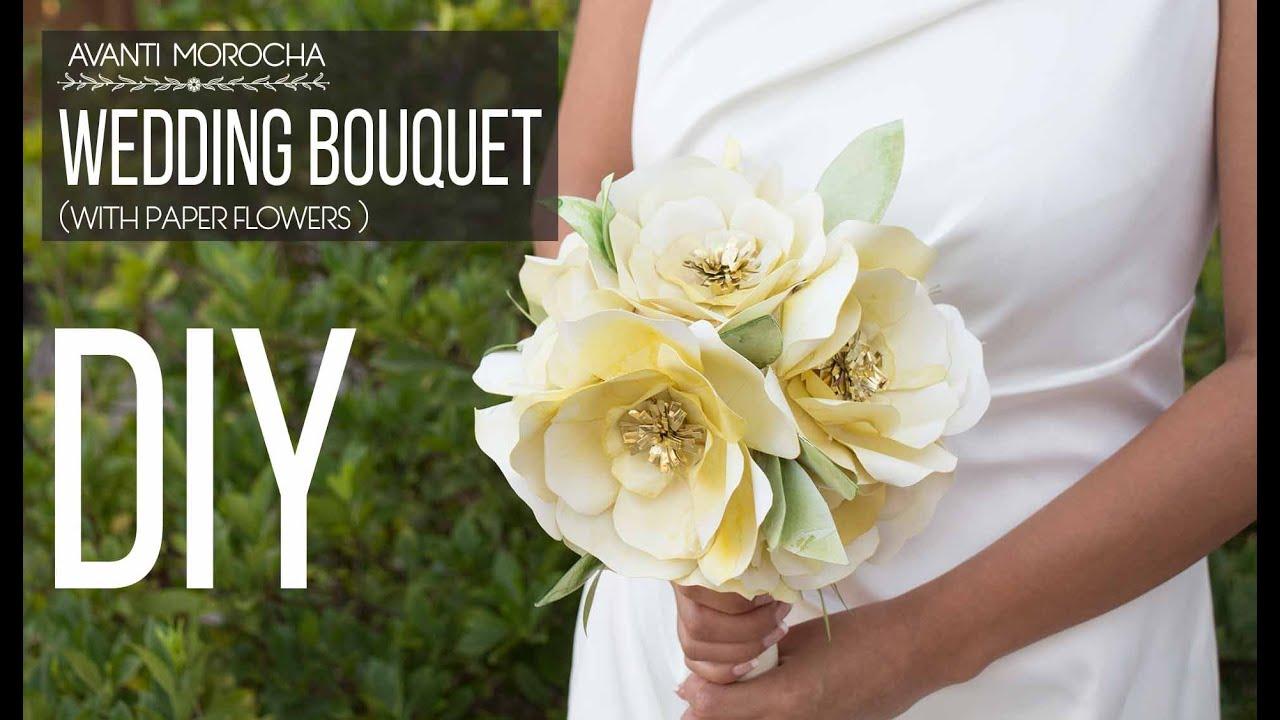 Diy wedding bouquet with paper flowers bouquet de novia con flores diy wedding bouquet with paper flowers bouquet de novia con flores de papel izmirmasajfo