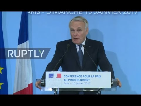 LIVE: Middle East peace conference in Paris: press conference by Ayraul