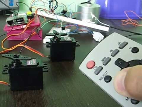 Servo And Stepper Motor Controlled By Ir Remote Controller