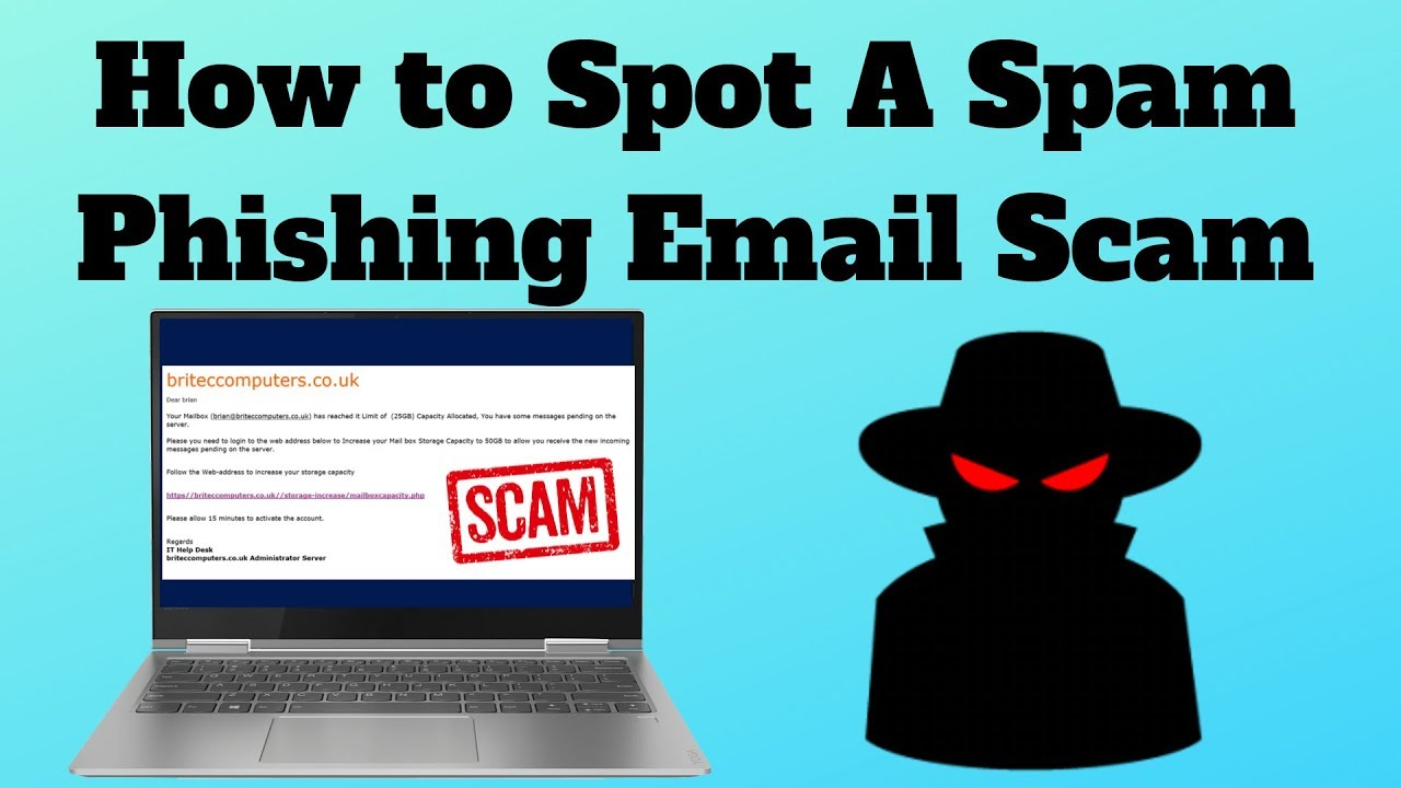 How to Spot A Spam Phishing Email Scam - YouTube