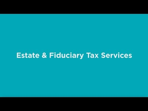Estate & Fiduciary Tax Services