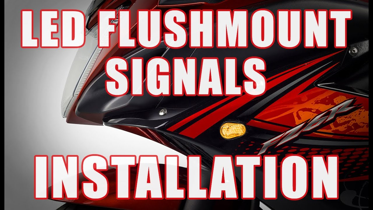 how to install led flushmount front signals on yamaha fz6r by tst industries [ 1280 x 720 Pixel ]