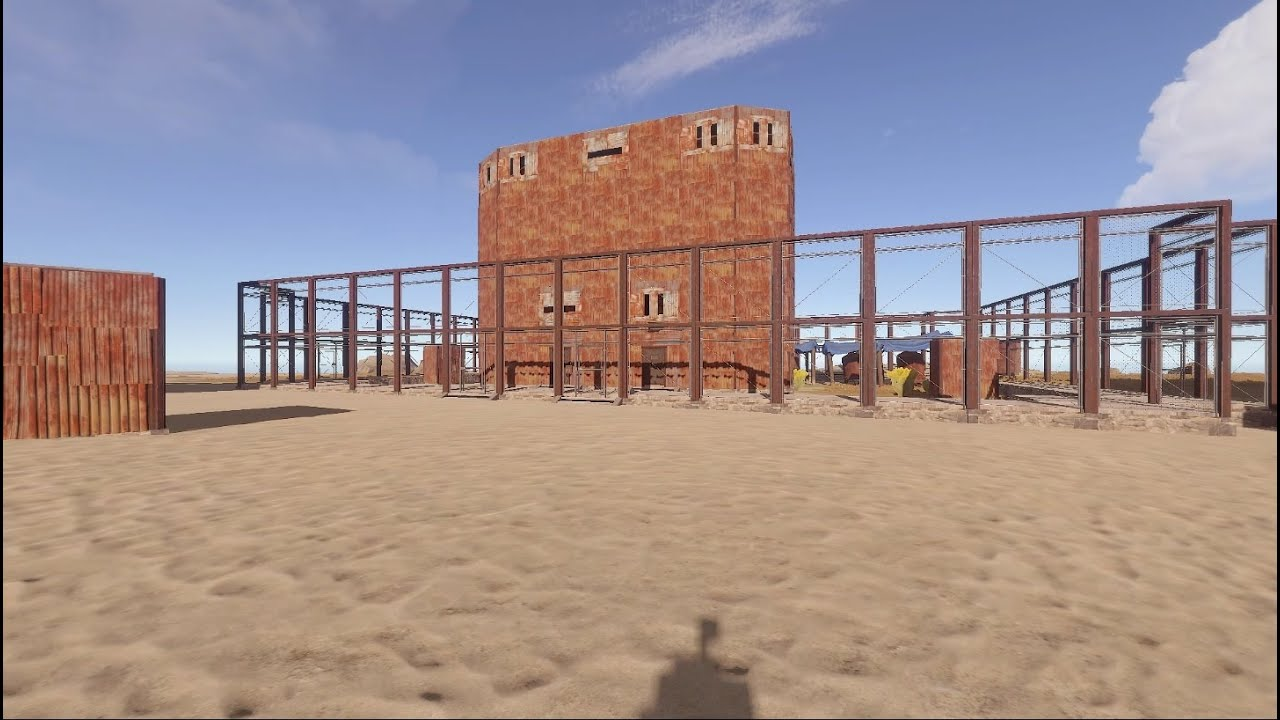 Rust metal base with indoor large furnaces and a giant for Indoor fence design