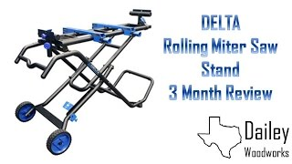 Delta Folding Rolling Miter Saw Stand Review