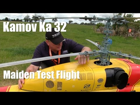 Kamov Ka 32 Scale RC Jet Turbine Helicopter Maiden Test Flight