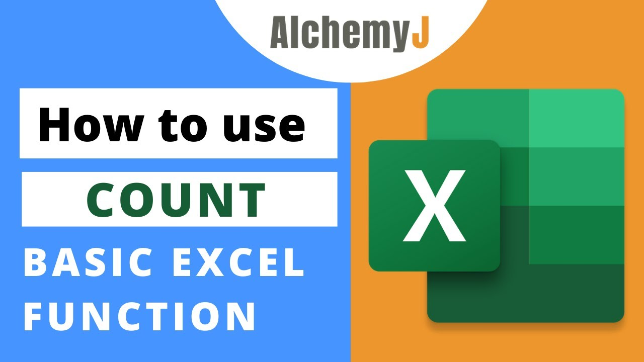 Basic Excel Function - How to use Count Function in Excel