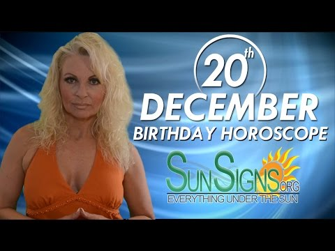 Birthday December 20th Horoscope Personality Zodiac Sign Sagittarius Astrology