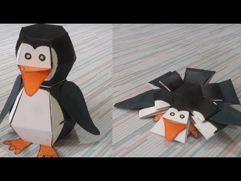 How to make Penguin Bomb |Bouncing penguin (DIY) Tutorial with Sketch to use |Paper Toy |Origami Toy