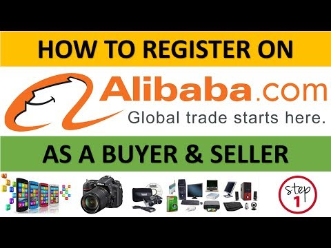 How To Register On Alibaba As A Buyer & Seller to Buy & Sell Products Globally  Step 1