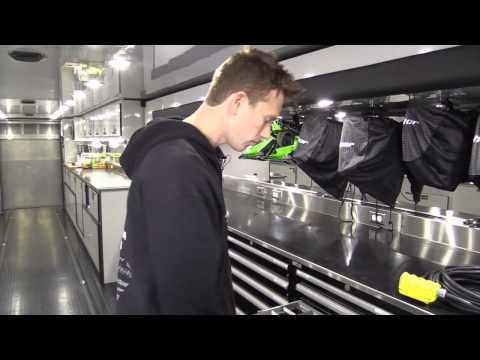 Inside the Monster Energy Pro Circuit Kawasaki Race Truck