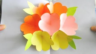 3D Flower Pop Up Card | Handmade Card for Mother's Day