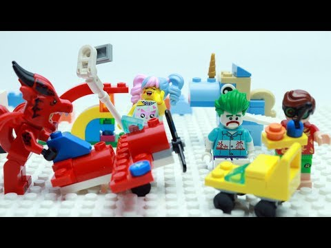 Lego Joker And Robin Brick Building Rainbow Fun 10401 Stop Motion