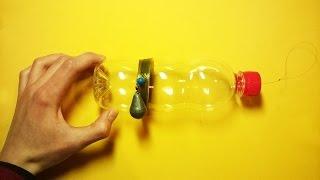 Бутылка-закидушка для ловли рыбы на донную снасть.Рыбалка.Fishing(Видео о том, как сделать