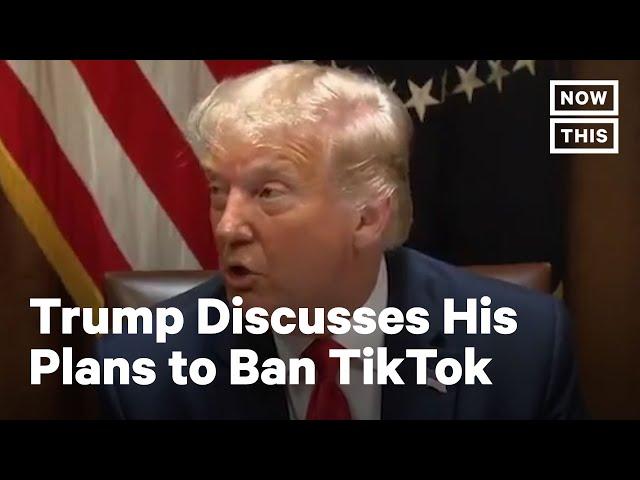 Trump Says He'll Ban TikTok 'Around' September | NowThis