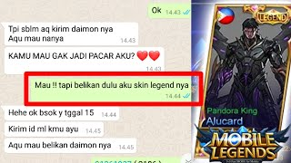 JADI HODE DEMI DAPAT SKIN LEGEND GRATIS DI MOBILE LEGENDS