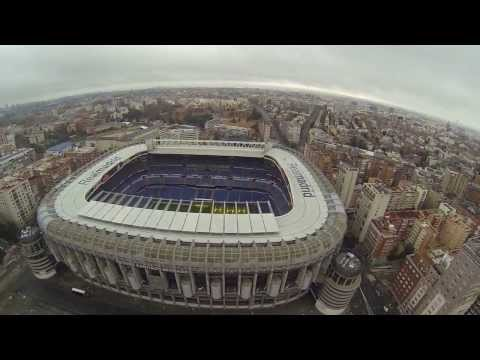 Estadio santiago bernabéu Stadium Real Madrid C.F. Filmed with DJI Phantom Drone + GoPro 3 Black