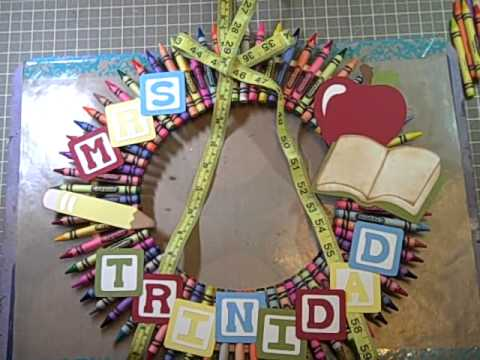 how to make a crayon wreath youtube