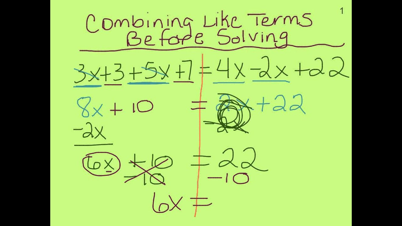 7th Grade Multi Step Equations