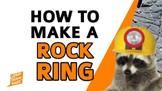 DIY TUTORIAL of HOW TO MAKE A STONE RING with a DREMEL beginner lapidary