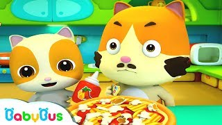 Baby Kitten's Special Pizza | Food Song | Nursery Rhymes | Kids Songs | Baby Cartoon | BabyBus