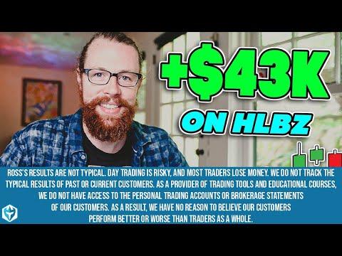 +$43k on (NASDAQ: HLBZ)   Recap by Ross Cameron