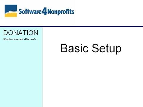 DONATION Basic Initial Setup