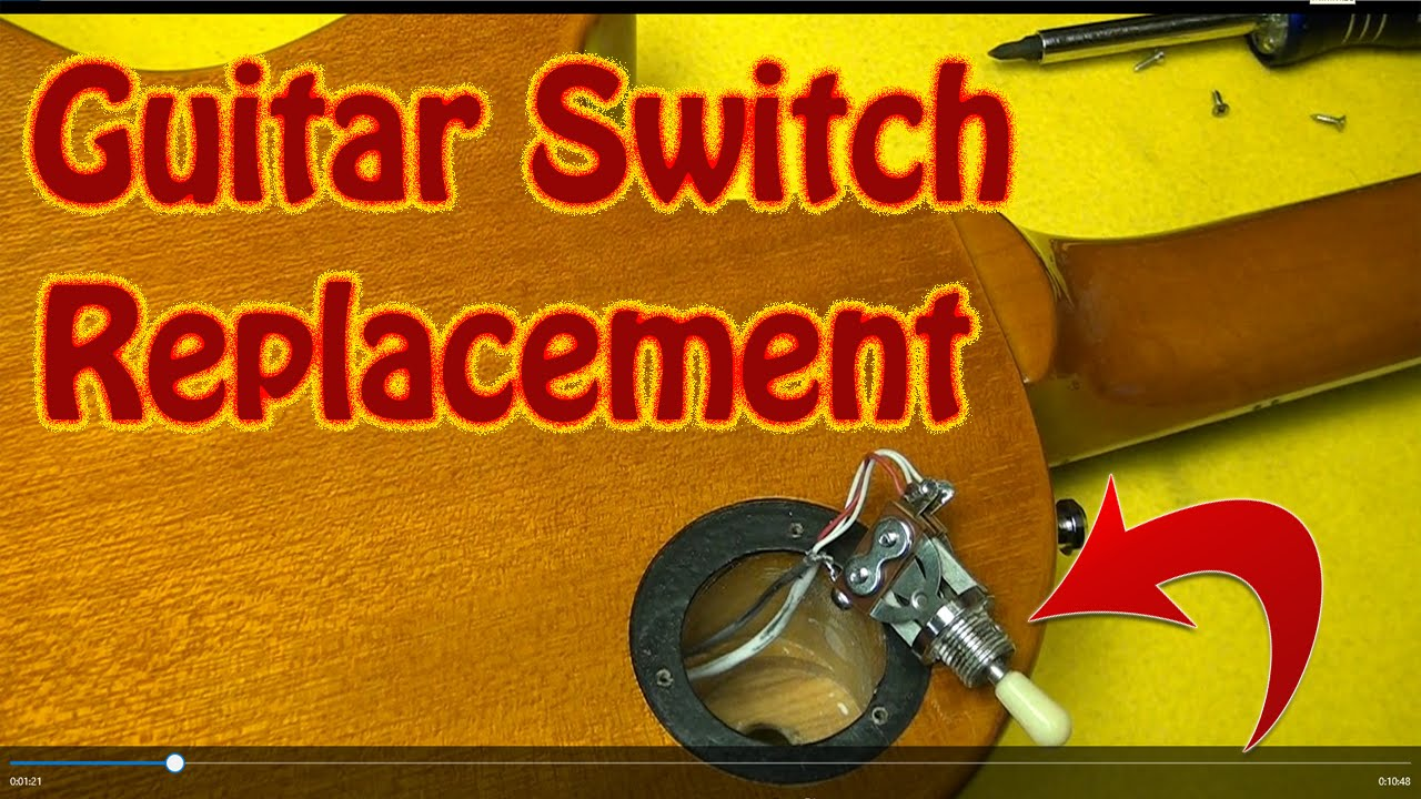 Diy How To Repair Or Replace A Guitar Switch That Is Cutting Gibson Double Neck Wiring Diagram Epiphone Les Paul Switchcraft Youtube