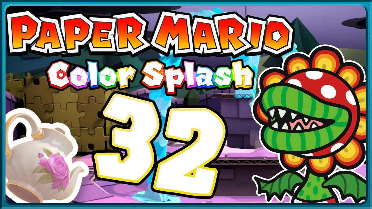 Paper Mario Color Splash Part 32 Teatime Mit Mutant Teeranha