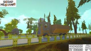 DUMP TRUCK 2.0 and BRIDGE BUILDING   Scrap Mechanic Ep4