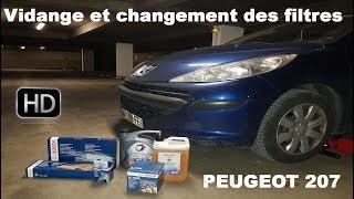 Faire la Vidange et changer les filtres sur Peugeot 207