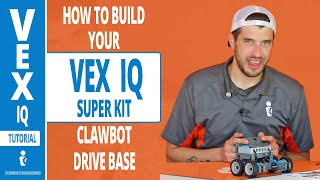VEX IQ Super Kit   How to build your Clawbot Drive Base Tutorial with Greg Serio (Part 2)