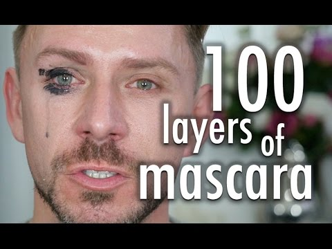 100 LAYERS OF MASCARA! I LITERALLY CRIED!!!!