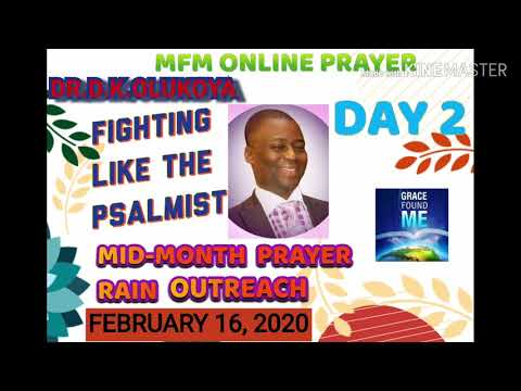 MFM (DAY 2) MID-MONTH | ONLINE PRAYER OUTREACH | DR.D.K.OLUKOYA