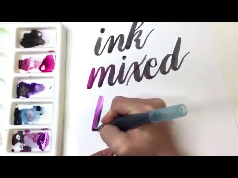 How to Blend Ink and Watercolor for Brush Calligraphy