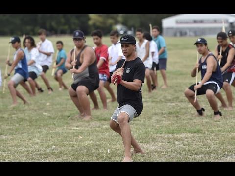Maori TV brothers teach taiaha