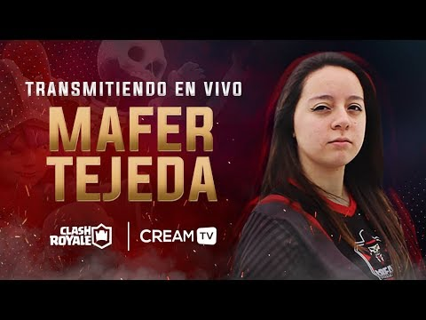 JUGANDO AL LADDER NIVEL NOOB PERO CON RISAS - MAFER TEJEDA | CLASH ROYALE - Cream TV