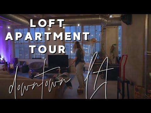 Downtown los angeles loft apartment tour! (I don't live unde