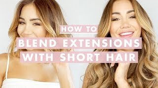 How To Clip In and Blend Hair Extensions With Short Hair | Luxy Hair