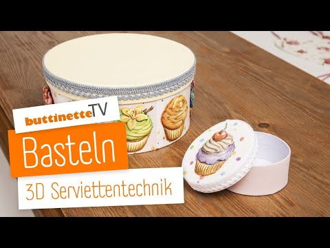 buttinettetv 3d serviettentechnik tutorial youtube. Black Bedroom Furniture Sets. Home Design Ideas