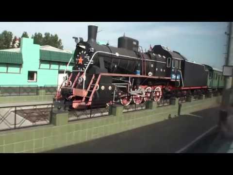 От Омска до Новосибирска вид из окна поезда