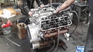 Первый запуск ЯМЗ 236 после капитального ремонта(Капитальный ремонт судовых дизелей, ремонт судовых систем и арматуры, продажа судовых двигателей и запасны..., 2015-06-22T16:19:25.000Z)