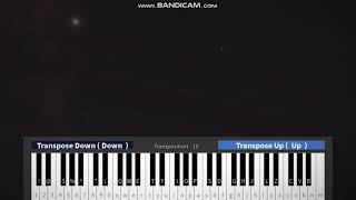 Mourir à Los Angeles - Panique! At The Disco (ROBLOX piano) (Feuilles en vidéo Description)
