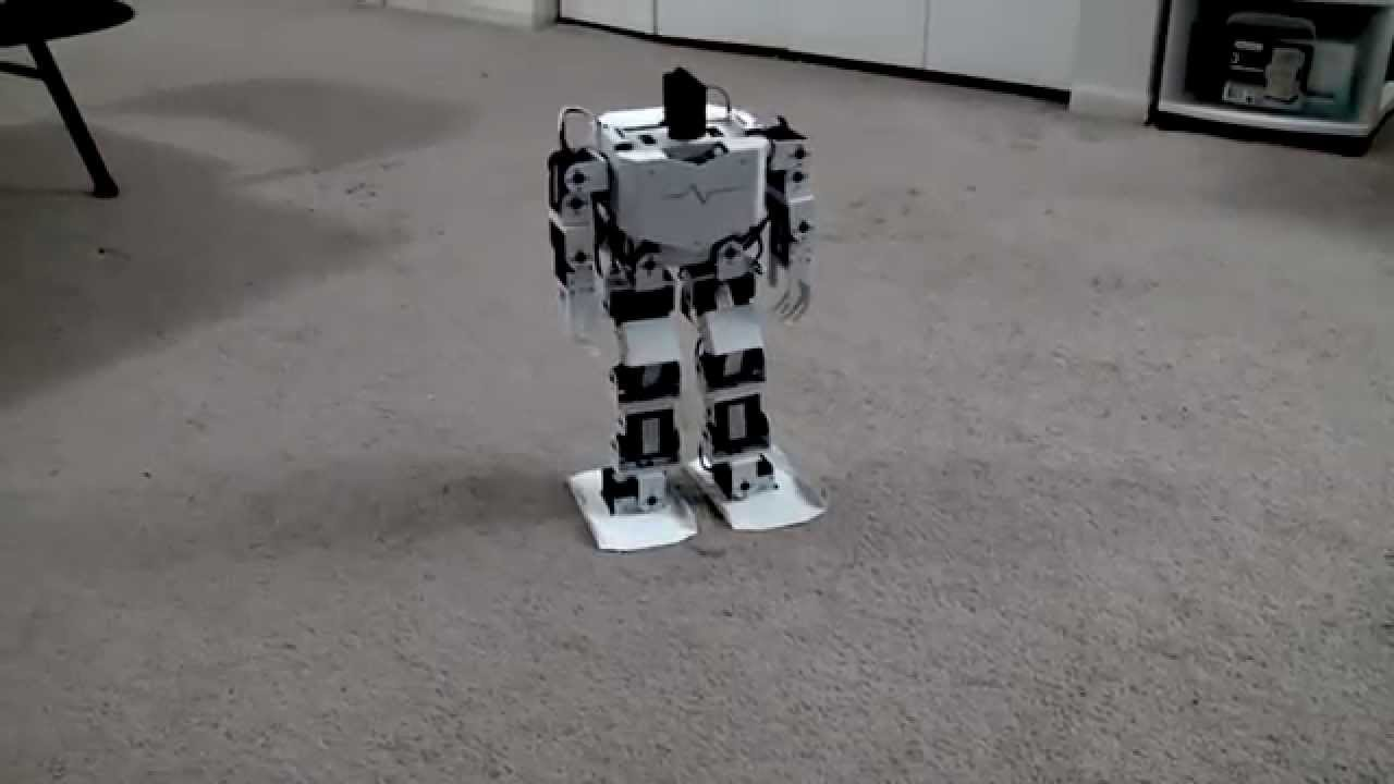 Android controlled dof biped robot arduino ssc