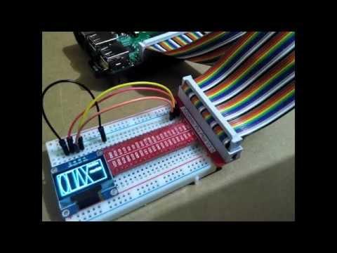 Raspberry Pi display on 128x64 I2C OLED with SSD1306, using Python